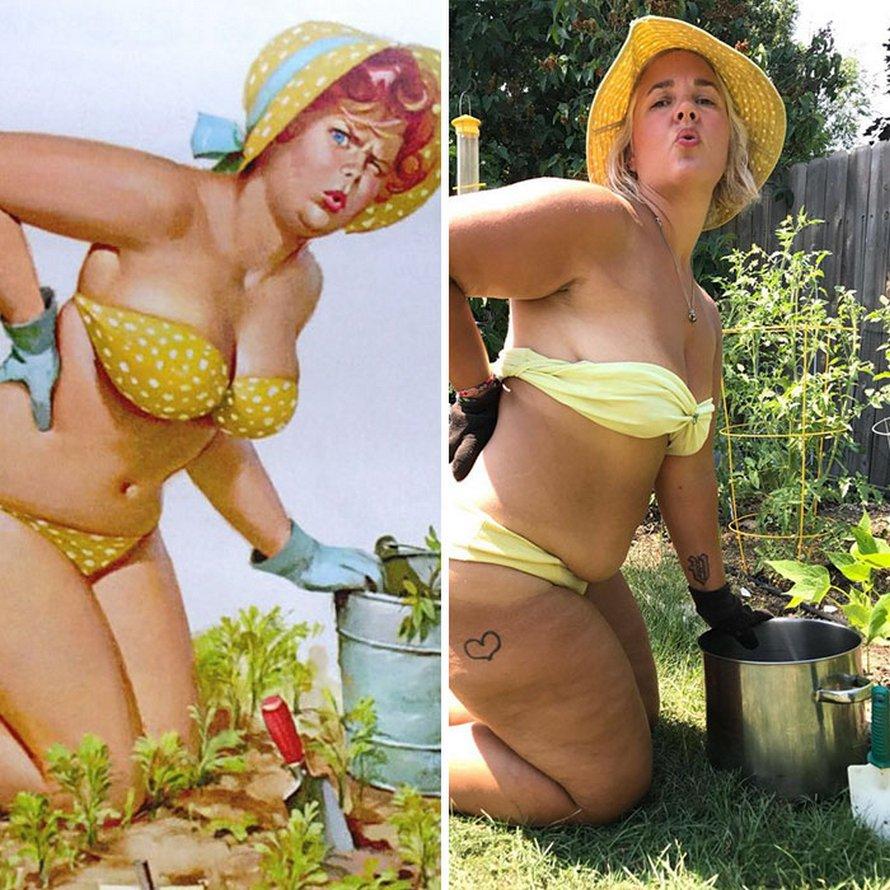 Cette femme a recréé 24 images de Hilda, la pin-up ronde oubliée des années 1950