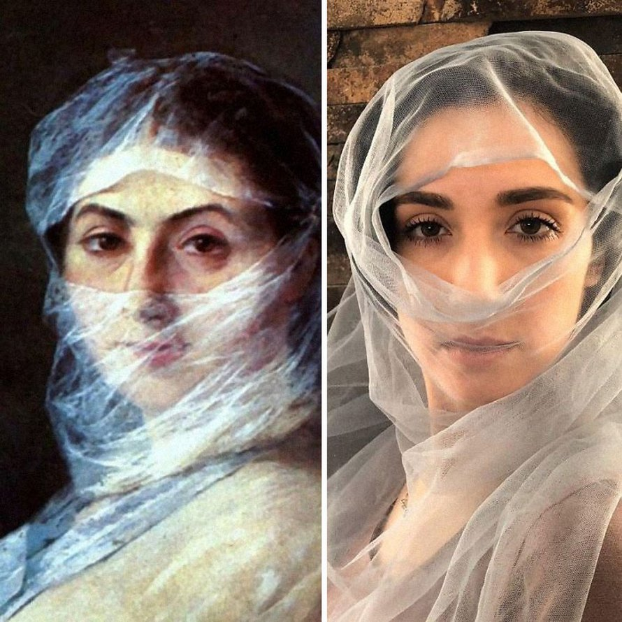 Des musées ont demandé aux gens de recréer des peintures célèbres avec tout ce qu'ils pouvaient trouver à la maison et ils ont reçu plusieurs images hilarantes