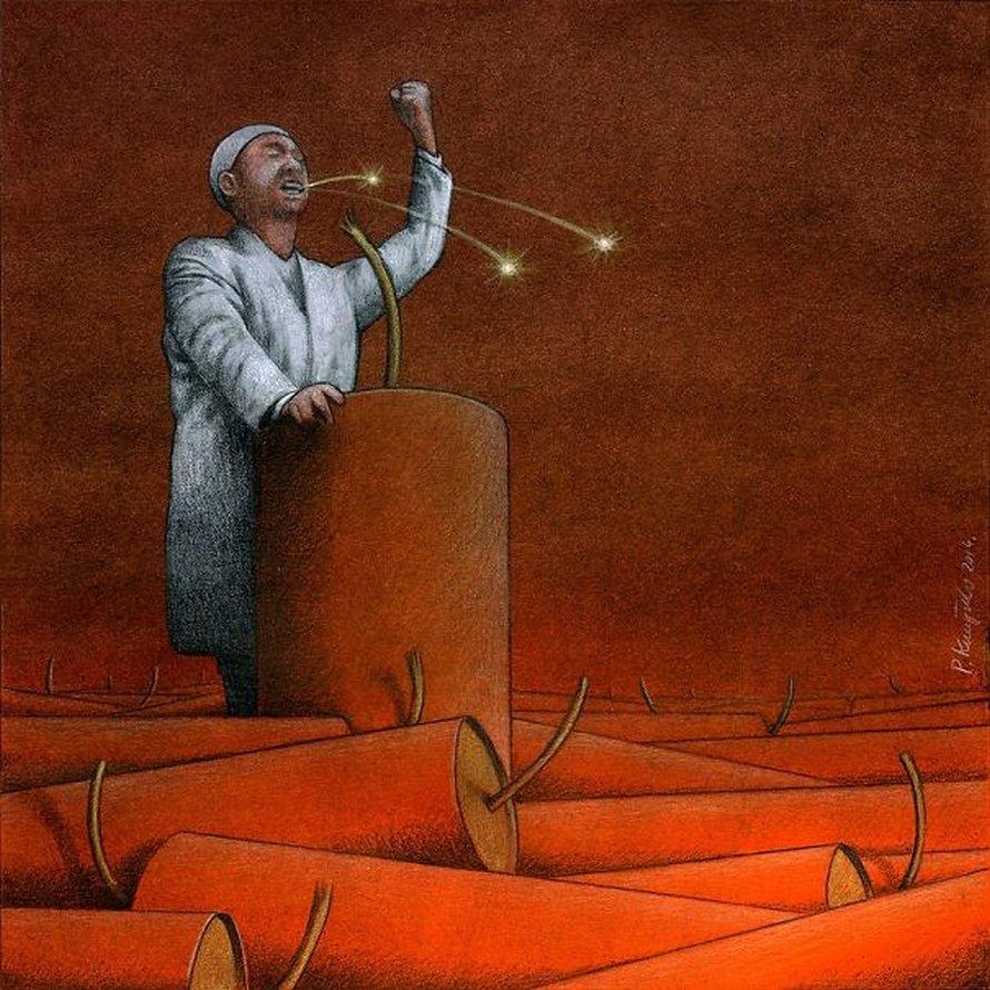 Cet artiste polonais a créé 30 métaphores troublantes, mais justes, sur les maux de notre société (nouvelles images)