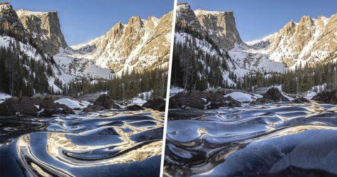 Ce photographe a immortalisé la beauté unique de vagues glacées au lac Dream, dans le Colorado