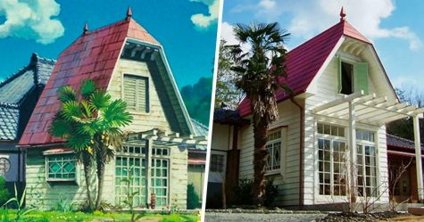 Cette maison est identique à celle que vous avez vue dans «Mon voisin Totoro» et comprend même tous les meubles originaux