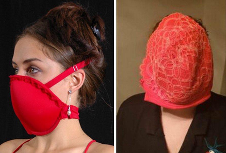 Cette maman a tenté d'utiliser son soutien-gorge comme masque facial et ses photos sont devenues virales