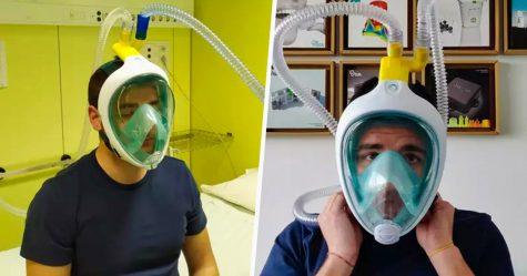 Des ingénieurs italiens ont créé des respirateurs à l'aide de masques de plongée pour lutter contre le coronavirus