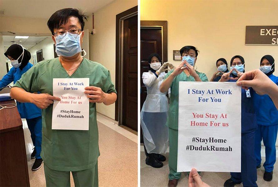 Les médecins s'unissent pour supplier les gens de rester à la maison
