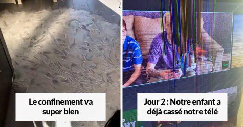 Ces images drôles montrent la réalité des parents coincés en confinement avec leurs enfants