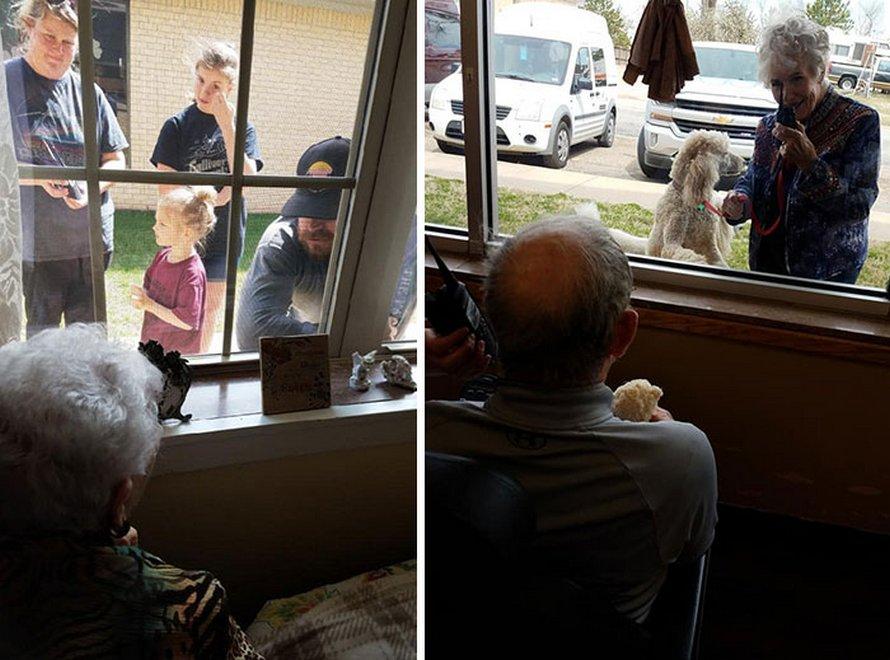Ces personnes ont trouvé des moyens de voir leurs proches sans les mettre en danger