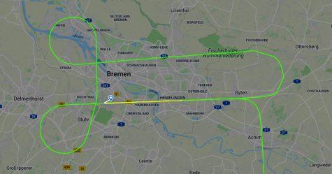 Un pilote de Lufthansa a dessiné un pénis dans le ciel au-dessus de l'Allemagne en attendant d'atterrir