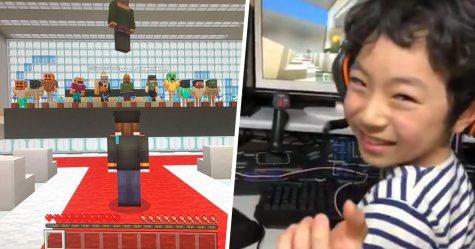 En raison de l'épidémie de coronavirus, des élèves japonais ont organisé leur cérémonie de remise des diplômes dans Minecraft