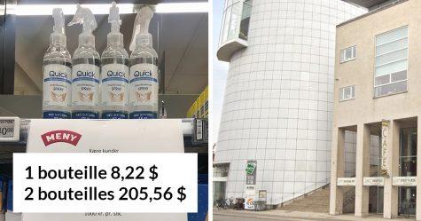 Un supermarché au Danemark a proposé une astuce de prix géniale pour stopper l'accaparement du désinfectant pour les mains