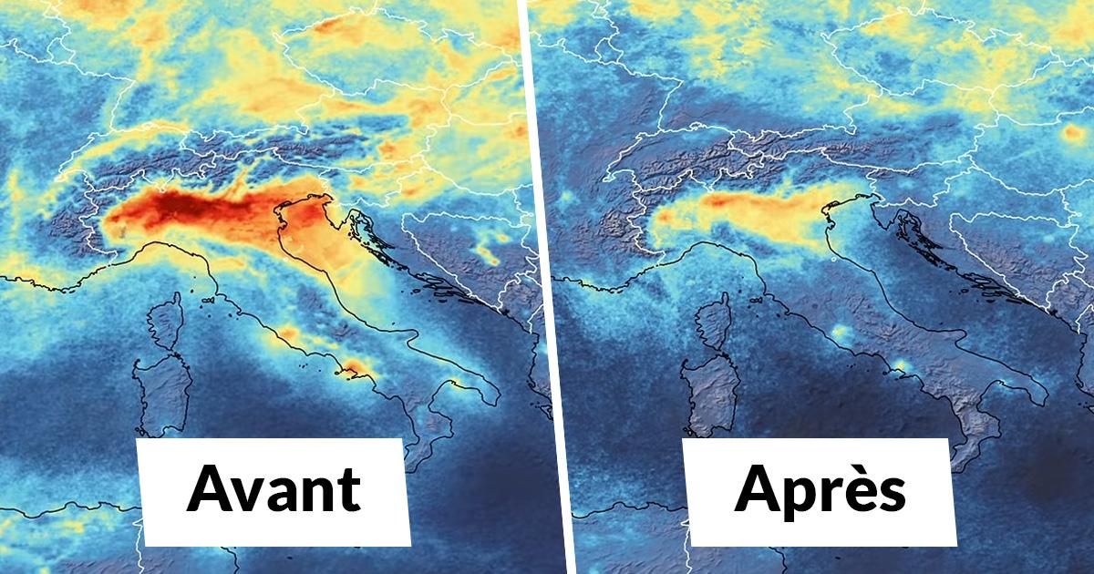 Des images satellites révèlent une baisse spectaculaire de la pollution en Italie pendant la quarantaine du coronavirus