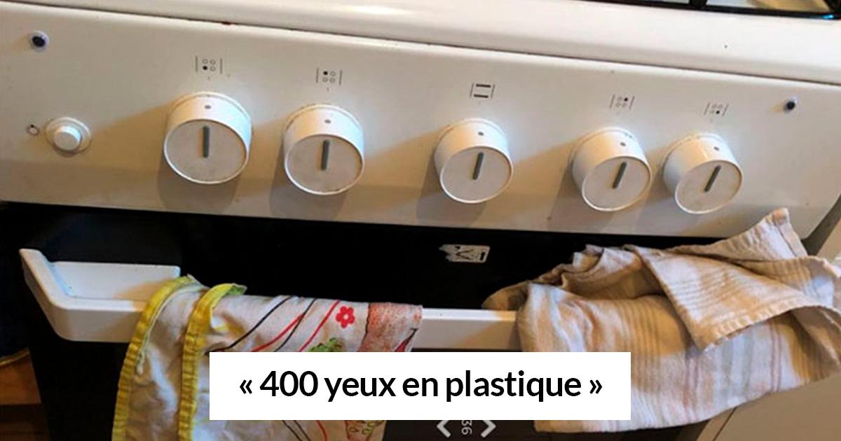 Une femme a commandé 1000 yeux en plastique et a passé 2 heures à en coller sur tout dans l'appartement de son petit ami