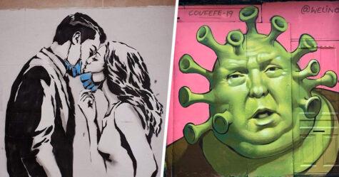 Voici certains des graffitis les plus sincères et les plus percutants sur le coronavirus