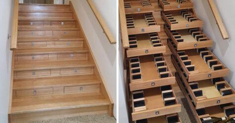 Un homme a transformé un escalier en cellier contenant 156 bouteilles de vin