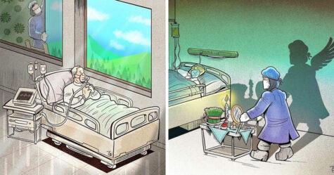 Ces 22 illustrations montrent la dure réalité des médecins pendant la pandémie de coronavirus