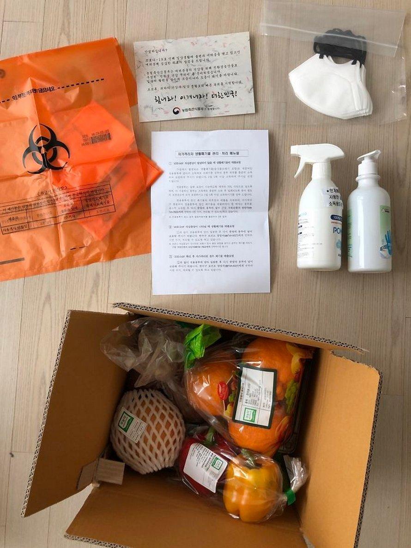 Voici à quoi ressemble le kit de soins du gouvernement sud-coréen pour les personnes en quarantaine