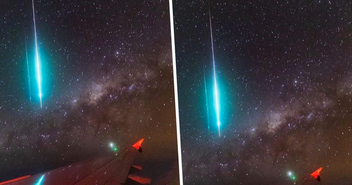 Cet homme a capturé un météore et la Voie lactée en un seul cliché depuis le hublot d'un avion