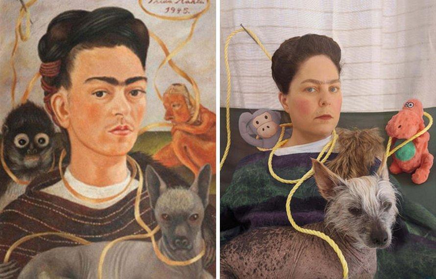 Des musées demandent aux gens de recréer des peintures célèbres à la maison et ils reçoivent 22 autres photos hilarantes