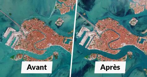 Ces 11 comparaisons avant et après montrent l'effet positif du confinement sur les villes et comment il réduit la pollution