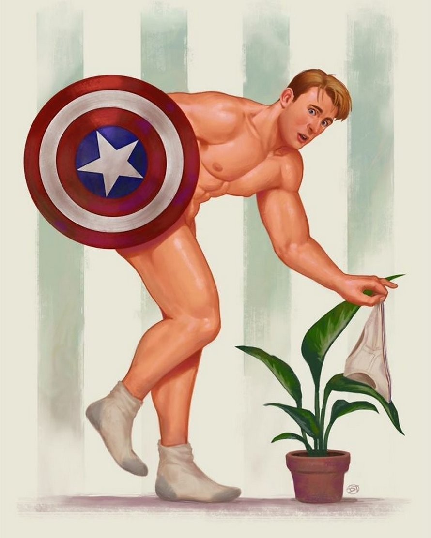Un artiste réinvente des superhéros masculins en pin-up et les imprimés se vendent comme des petits pains