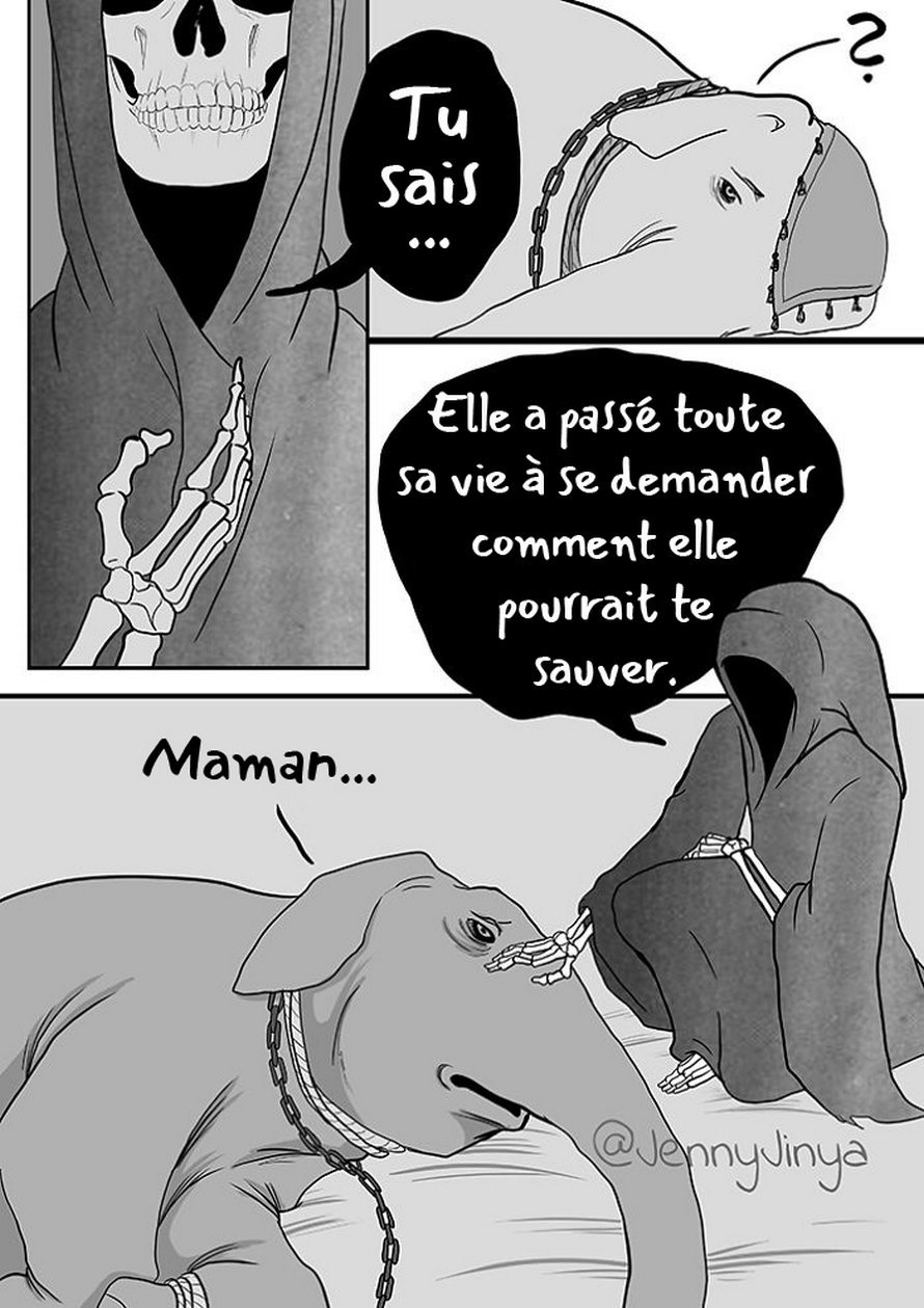 L'artiste qui a fait pleurer les gens avec ses bandes dessinées «Bon chien» et «Chat noir» vient d'en publier une autre sur les éléphants