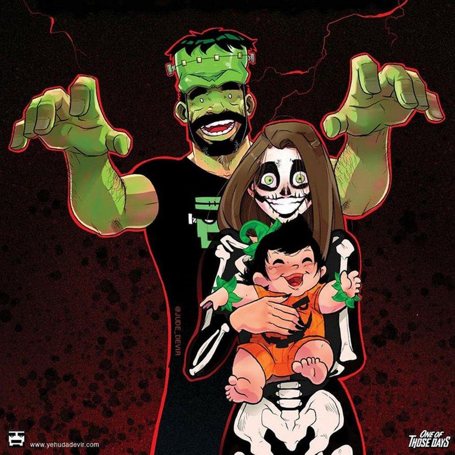 Un artiste continue d'illustrer sa vie quotidienne avec sa femme et on peut maintenant voir leur petite fille dans ces 38 bandes dessinées amusantes