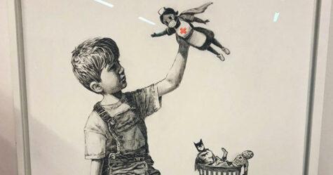 Banksy offre à un hôpital sa nouvelle peinture où il rend hommage aux travailleurs de la santé