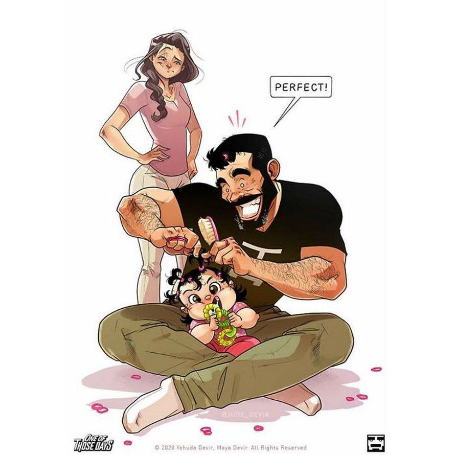 Le célèbre couple qui présente sa vie dans des bandes dessinées révèle enfin sa fille en 9 photos adorables