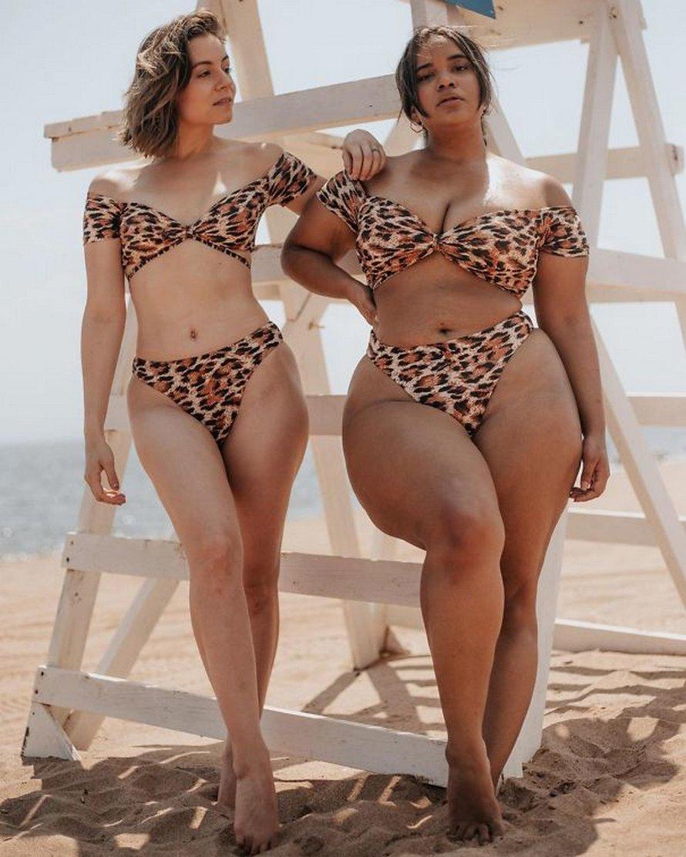 Ces deux amies montrent à quoi ressemblent les mêmes vêtements sur leurs différents types de corps en 22 photos