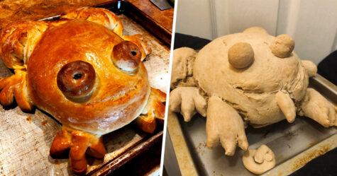 Des gens montrent leurs tentatives de faire du pain en forme de grenouille et voici les 22 meilleurs et pires résultats