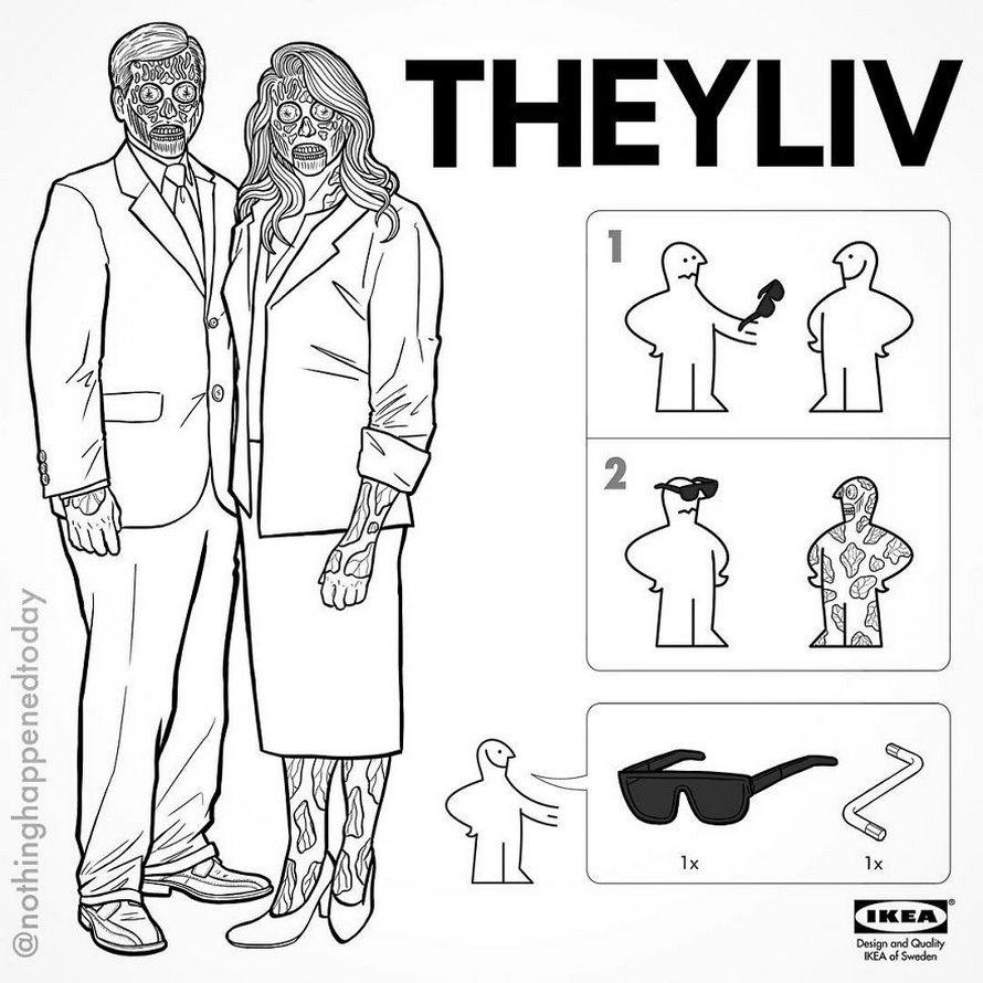 Un illustrateur partage des instructions IKEA pour créer des personnages de films d'horreur et voici les 26 meilleures