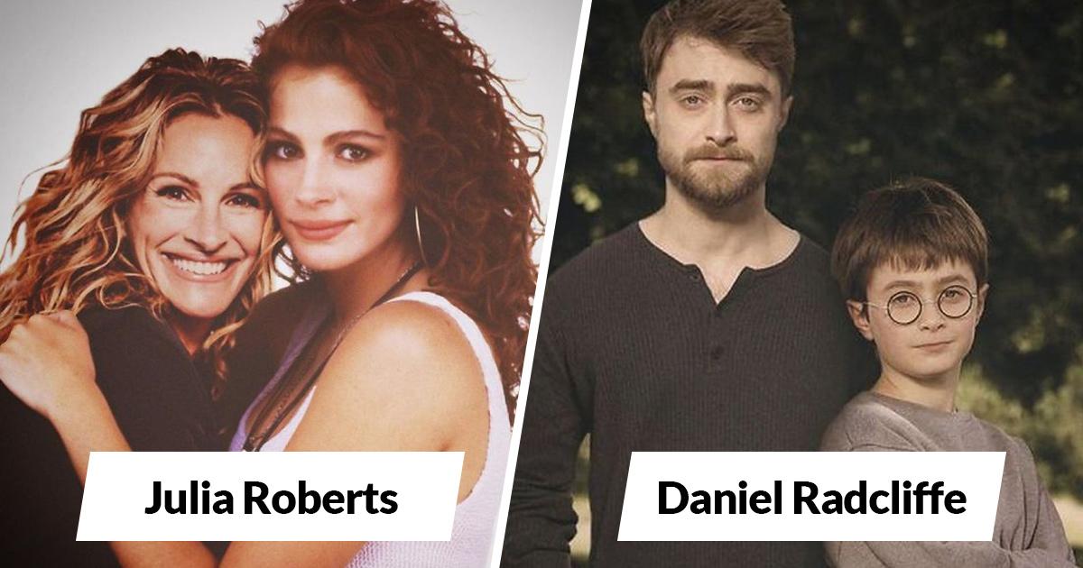 30 célébrités côte à côte avec leur moi plus jeune montrent comment le vieillissement les a changées