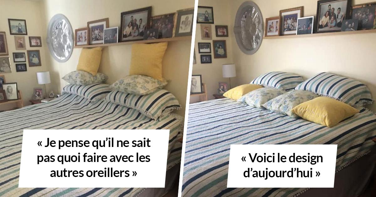 Une femme montre toutes les tentatives hilarantes de son mari de faire le lit après l'avoir fait elle-même pendant 45 ans