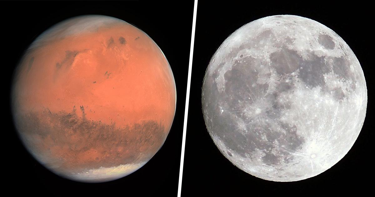 Mars et la Lune seront visibles ensemble à partir de ce soir