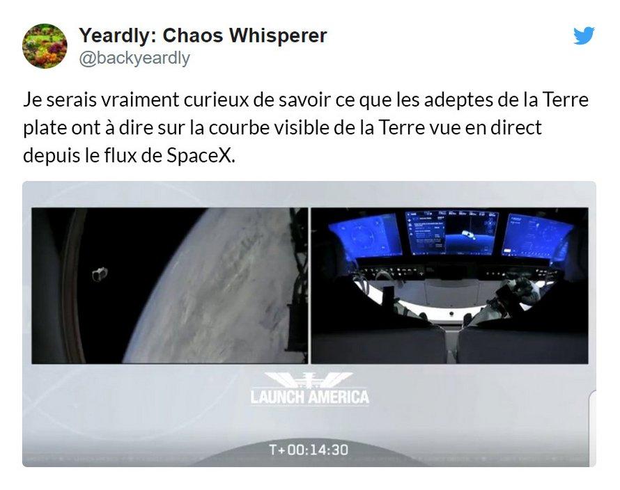 Les gens disent que c'est une mauvaise journée pour les adeptes de la Terre plate après le lancement de SpaceX et voici les 9 meilleurs commentaires