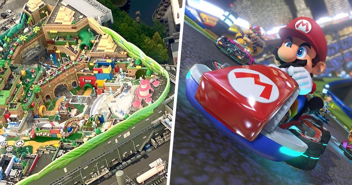 Les photos aériennes secrètes du parc à thème Super Nintendo World sont spectaculaires