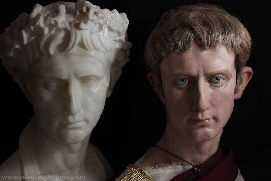 Un artiste espagnol recrée de célèbres empereurs romains grâce à ses sculptures réalistes