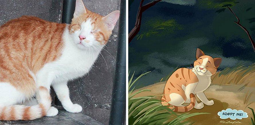 Des gens envoient des photos de leurs animaux à cette artiste et elle les transforme en personnages Disney