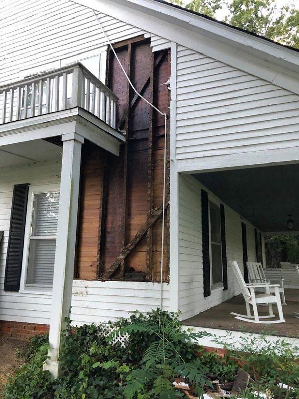 Un déménageur d'abeilles montre ce qu'il a trouvé après avoir enlevé le mur extérieur de la maison d'un client et ses photos deviennent virales