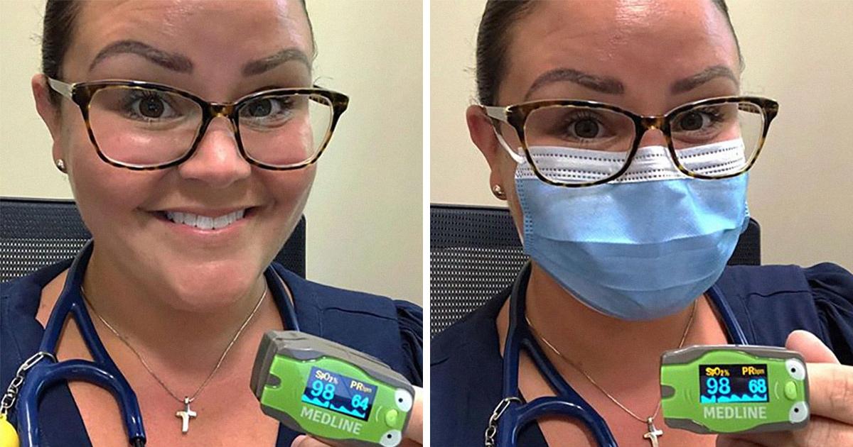 Une médecin démontre ce qui se passe lorsque vous portez différents masques