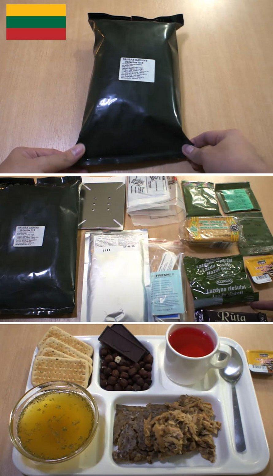 Voici à quoi ressemblent les rations alimentaires militaires pour 14 différentes armées
