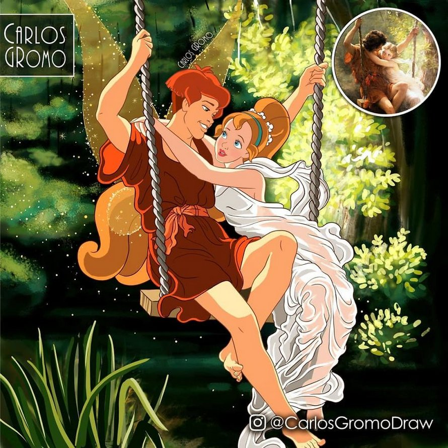Un artiste réinvente 22 tableaux célèbres avec des personnages Disney
