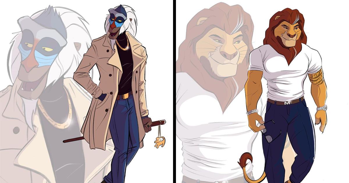 Un artiste réinvente des personnages Disney et leur donne des caractéristiques humaines modernes