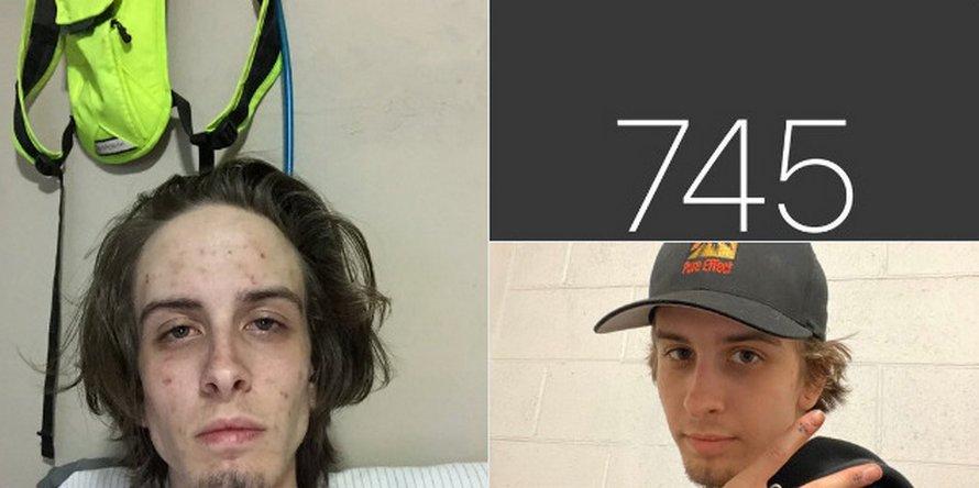 Un homme partage des photos avant et 745 jours après avoir arrêté la drogue et sa transformation est spectaculaire