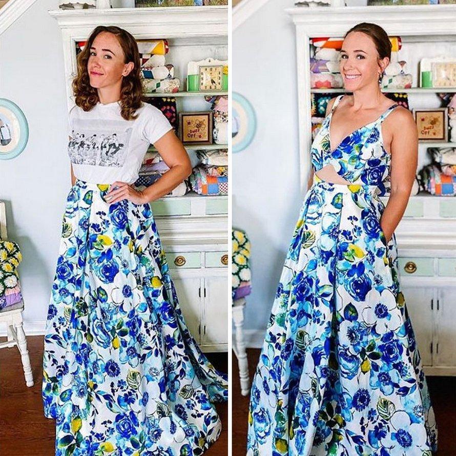 Une femme modifie des vêtements usagés de friperie pour en créer de nouveaux et voici ses 21 meilleures transformations