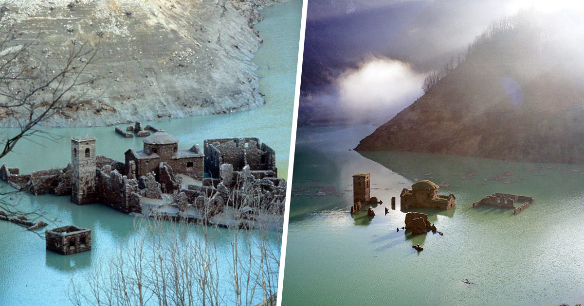 Un village submergé depuis plus de 25 ans pourrait bientôt réapparaître en Italie et tu pourras le visiter