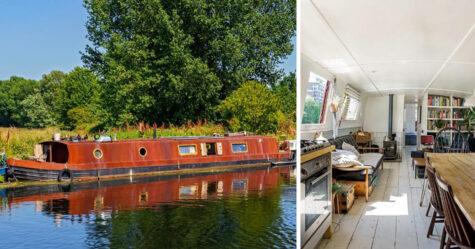 L'intérieur de ce bateau maison de 165000€ est plus joli que la plupart des appartements