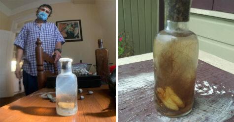 Un homme de La Nouvelle-Orléans trouve une «bouteille de sorcière» avec des dents à l'intérieur enterrée dans le sol au bord du Mississippi