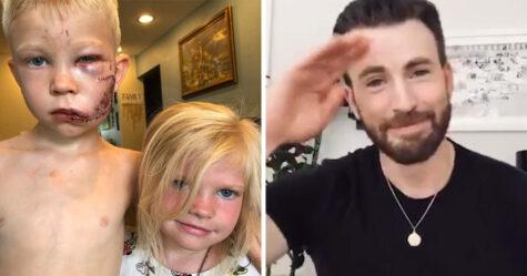 Captain America envoie un message au garçon héroïque qui a sauvé sa petite soeur d'une attaque de chien