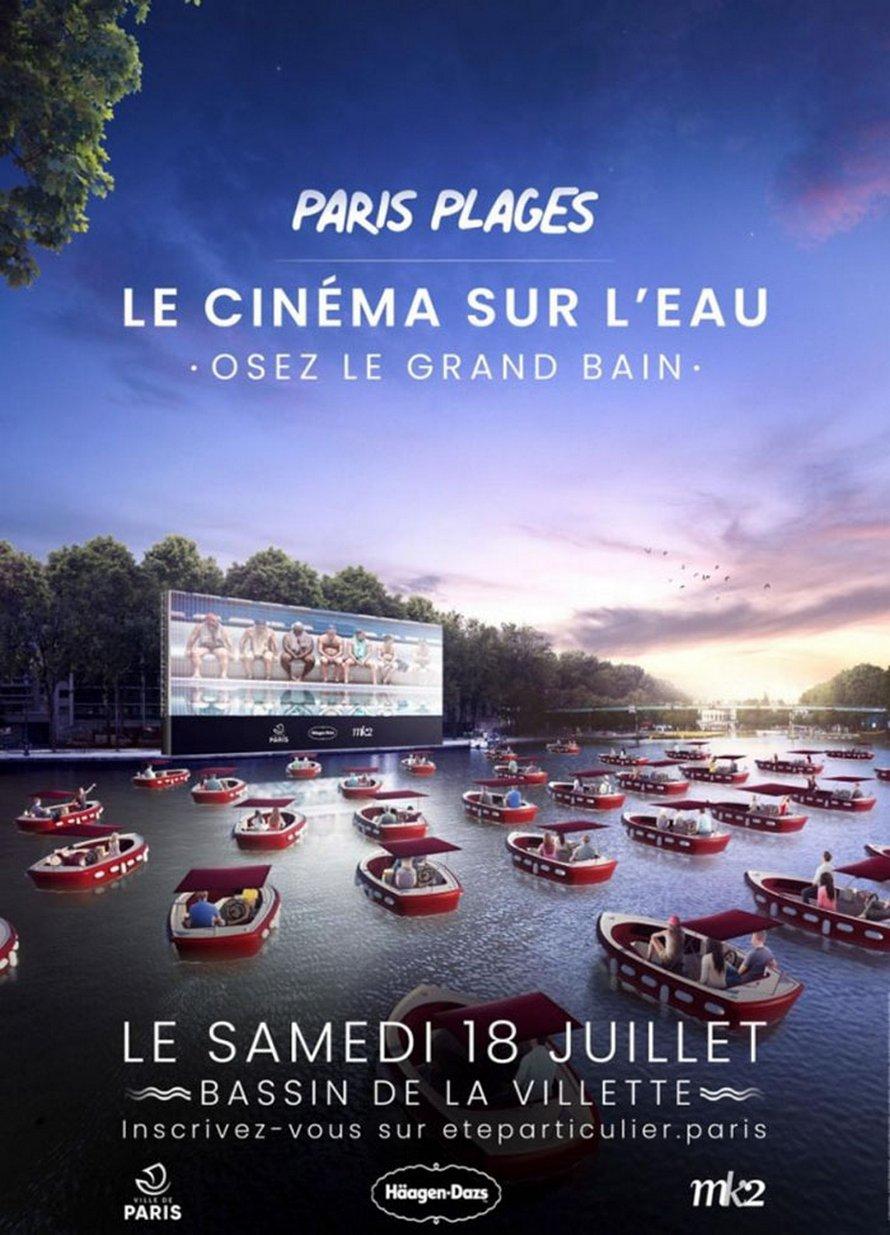 Paris lance la saison estivale avec un cinéma flottant qui favorise la distanciation sociale ! (vidéo)By Ipnoze.com Cinema-flottant-paris-plages-la-villette-008