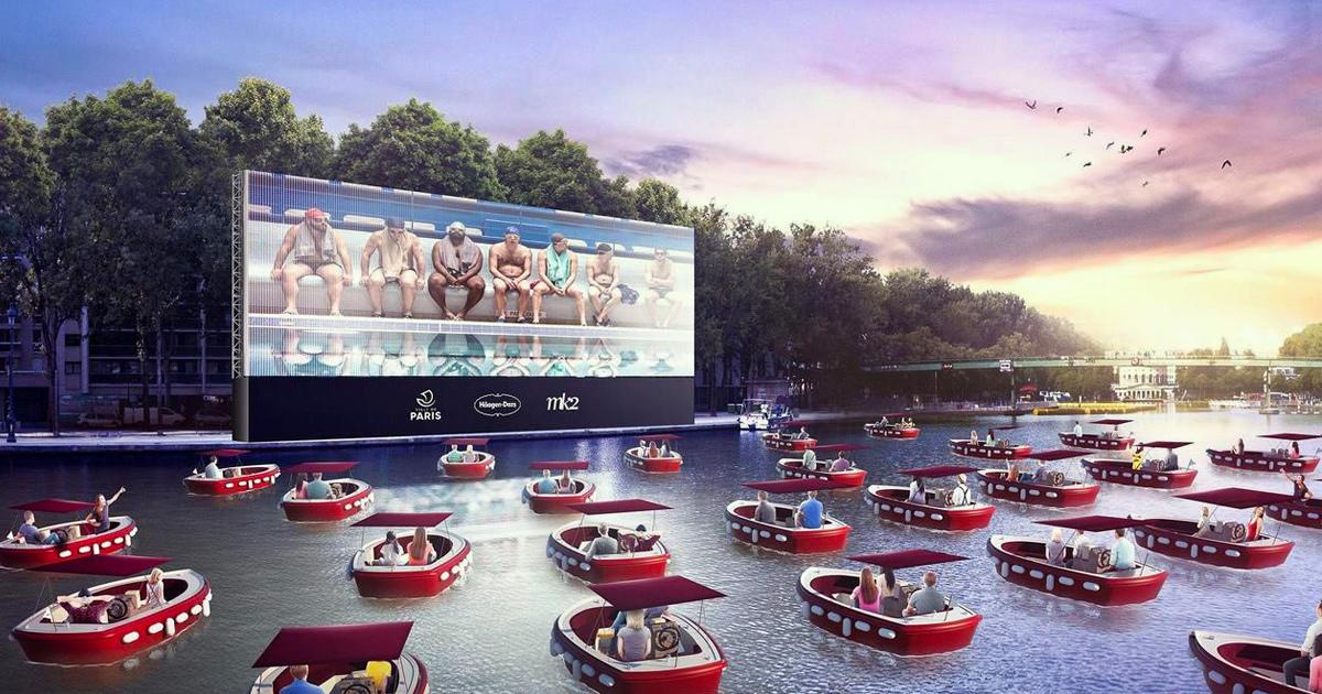 Paris lance la saison estivale avec un cinéma flottant qui favorise la distanciation sociale ! (vidéo)By Ipnoze.com Cinema-flottant-paris-plages-la-villette